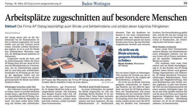 Aargauer Zeitung 2012